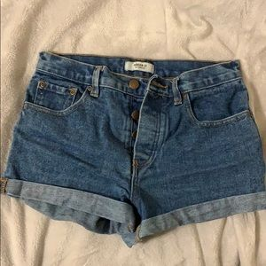 Forever 21 blue jean shorts